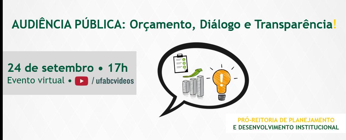 UFABC promove Audiência Pública para debater as diretrizes orçamentárias de 2021