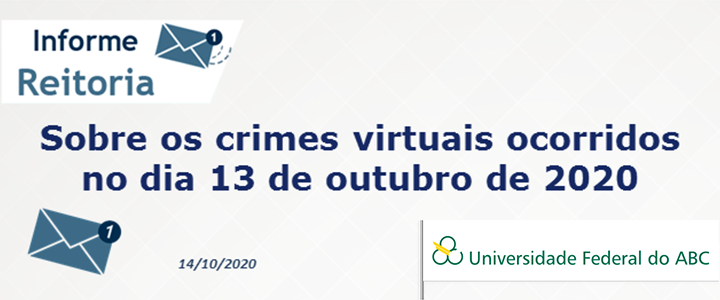 Reitoria emite nota sobre os crimes virtuais ocorridos no dia 13 de outubro de 2020