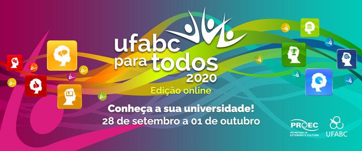 O UFABC para Todos 2020 terá formato online!