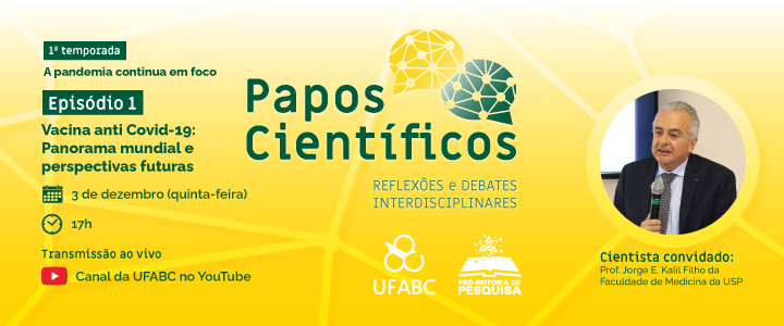"""Entrevistas, reflexões e debates interdisciplinares: UFABC lança a série """"Papos científicos"""""""