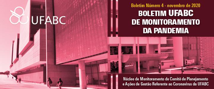 Núcleo da UFABC que monitora a pandemia no âmbito da Universidade emite quarto boletim de avaliação epidemiológica