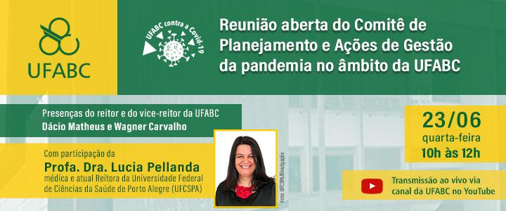 Comitê de Planejamento e Ações de Gestão da pandemia no âmbito da UFABC realizará reunião aberta para discutir situação atual