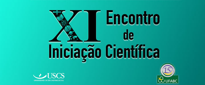 Inscrições para o XI Encontro de Iniciação Científica UFABC, em parceria com a USCS